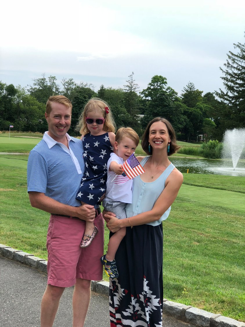 The Pellicani family at the Rockville Links Club in the summer of 2018.