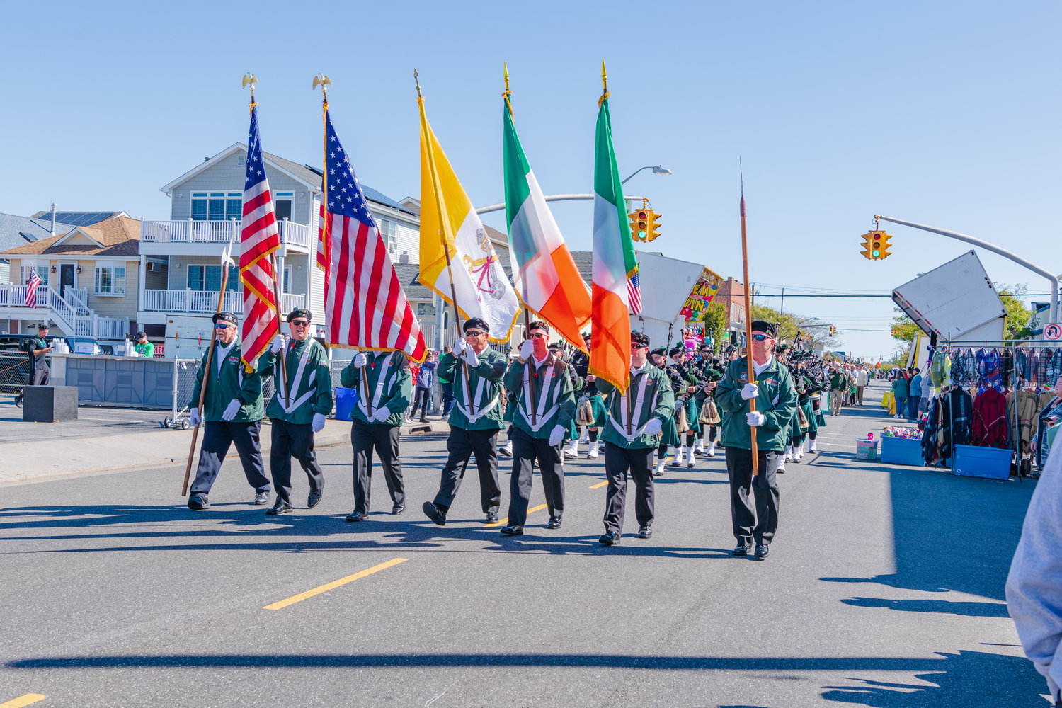 The AOH Division 17 Honor Guard marched in the 2019 parade on Oct. 5.