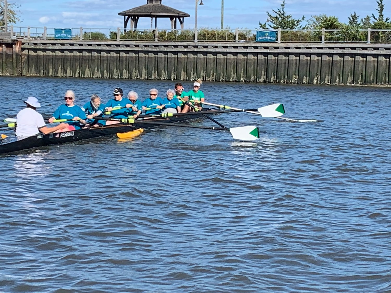 Members of Lynbrook's Atria Senior Rowing Club paddled through the waters of Oyster Bay on Sept. 24.