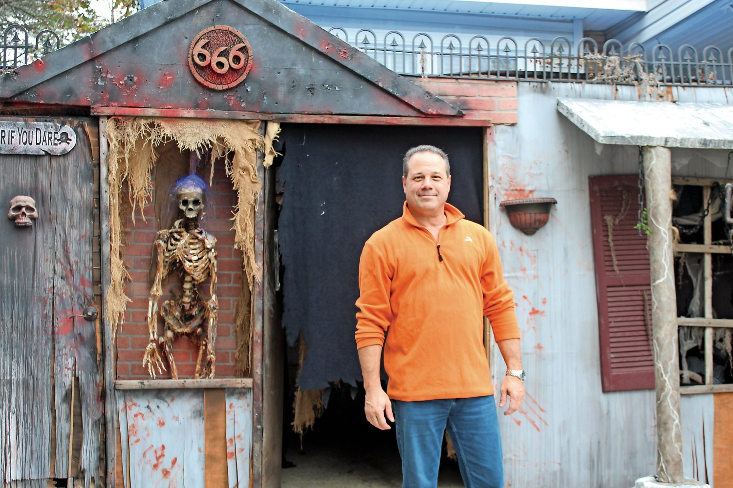 For almost 20 years, Joe Alloco has built a haunted house at his property on Norbay Street, but this year will be his last after he recently suffered a mini-stroke.