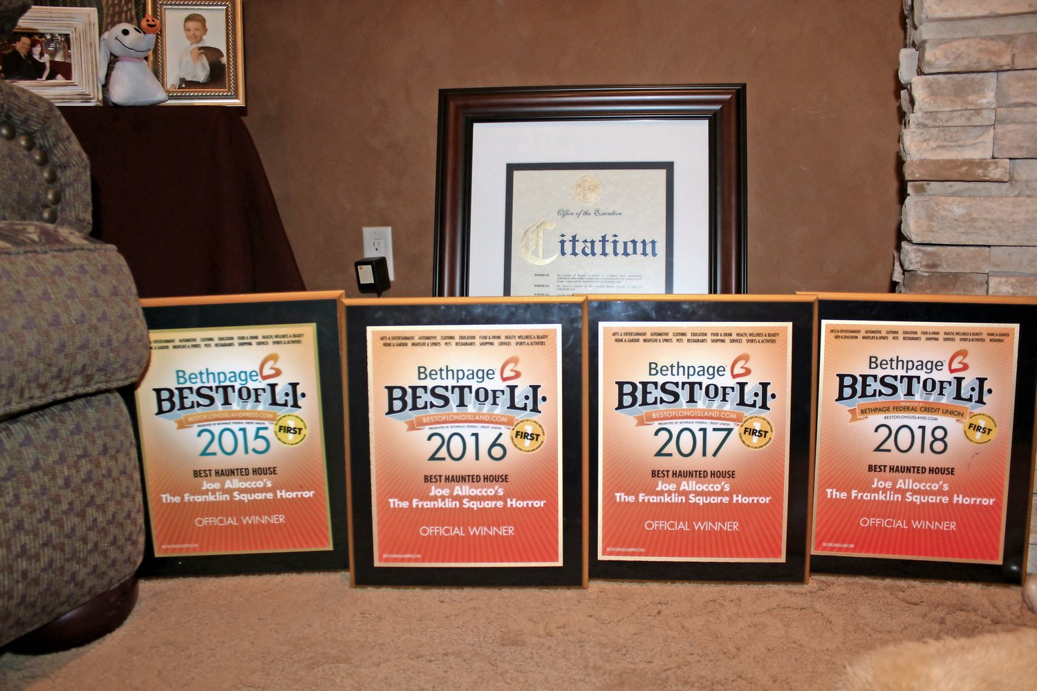 Allocco has won the Bethpage Best of Long Island Haunted House Award for the past four years.