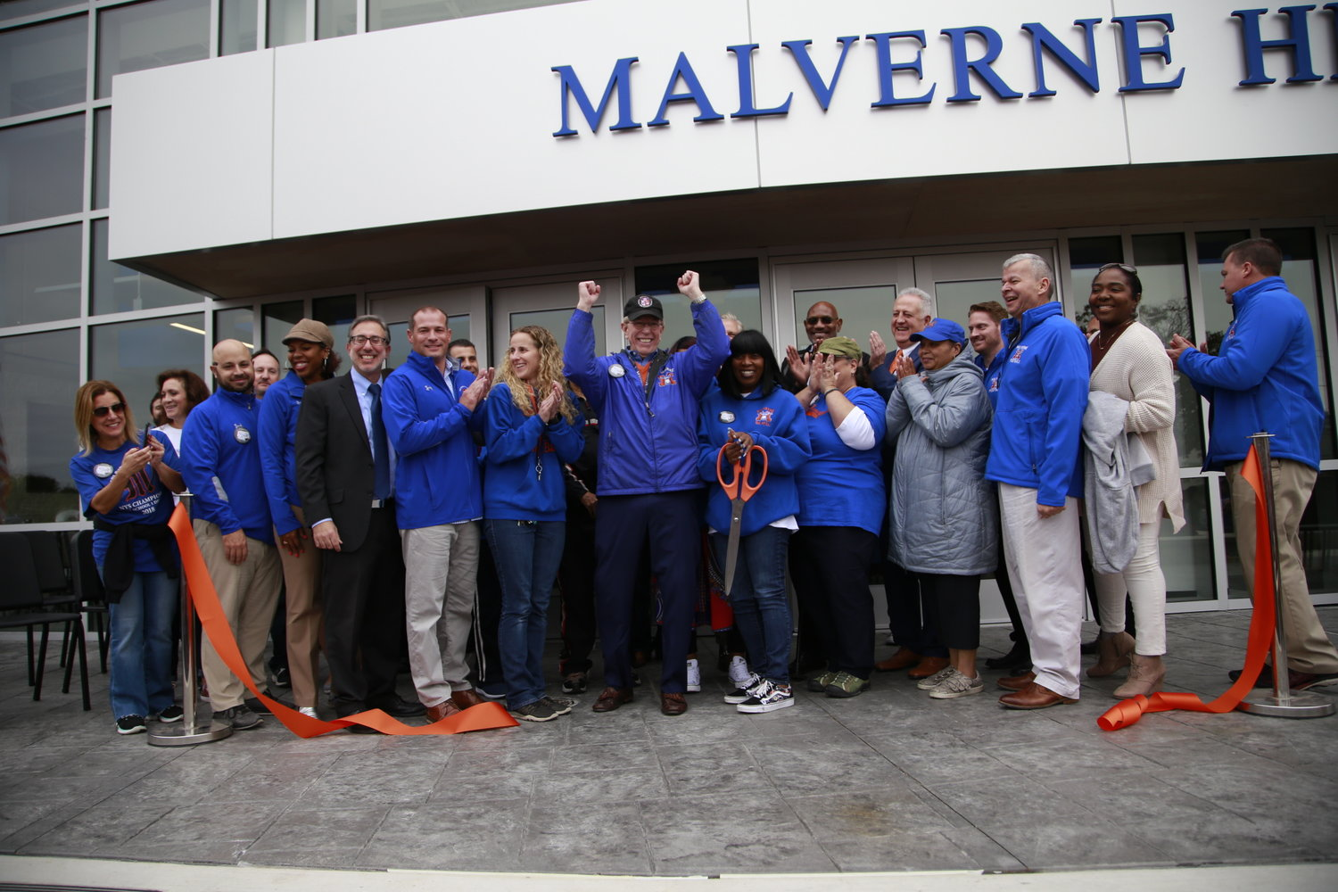 The Malverne School District held a ribbon-cutting ceremony to unveil the high school's new performing arts center during Homecoming last Saturday.