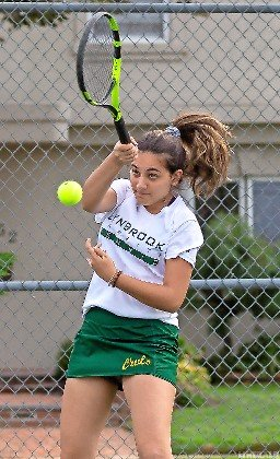 Senior Arpie Bakhshian is the No. 1 singles player for the Lady Owls, who are vying with Oceanside for the conference title.