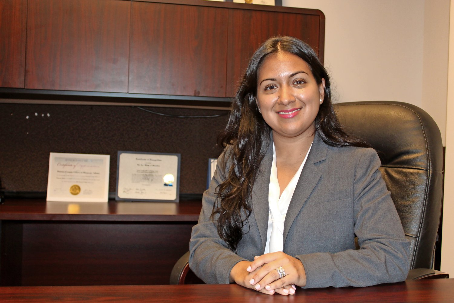 Amy Flores, of South Bellmore, was recently named the executive director of the Nassau County Office of Hispanic Affairs.