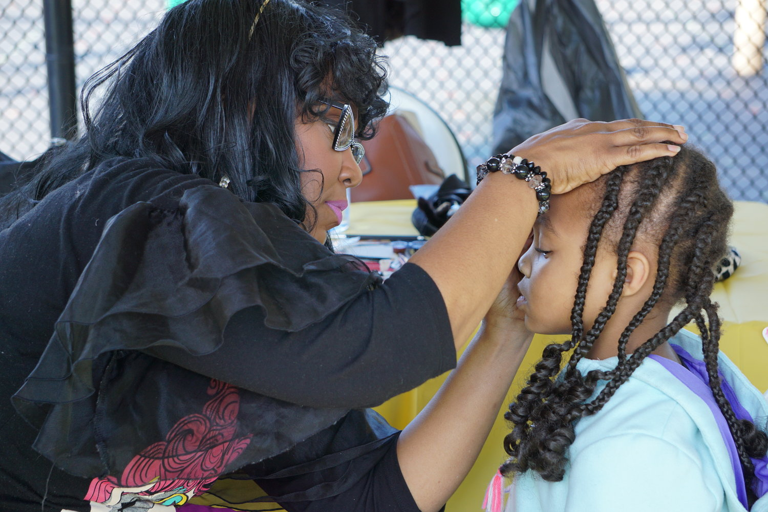 Children had their faces painted at the 90th anniversary celebration for Zion Cathedral.