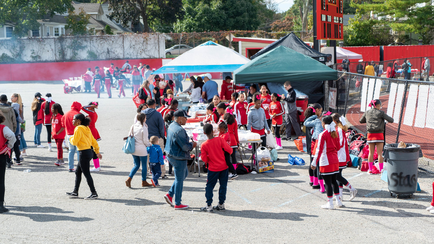 During the homecoming football game and after the homecoming parade, FHS clubs and boosters host fundraisers by selling baked goods, soft drinks, school memorabilia and food.