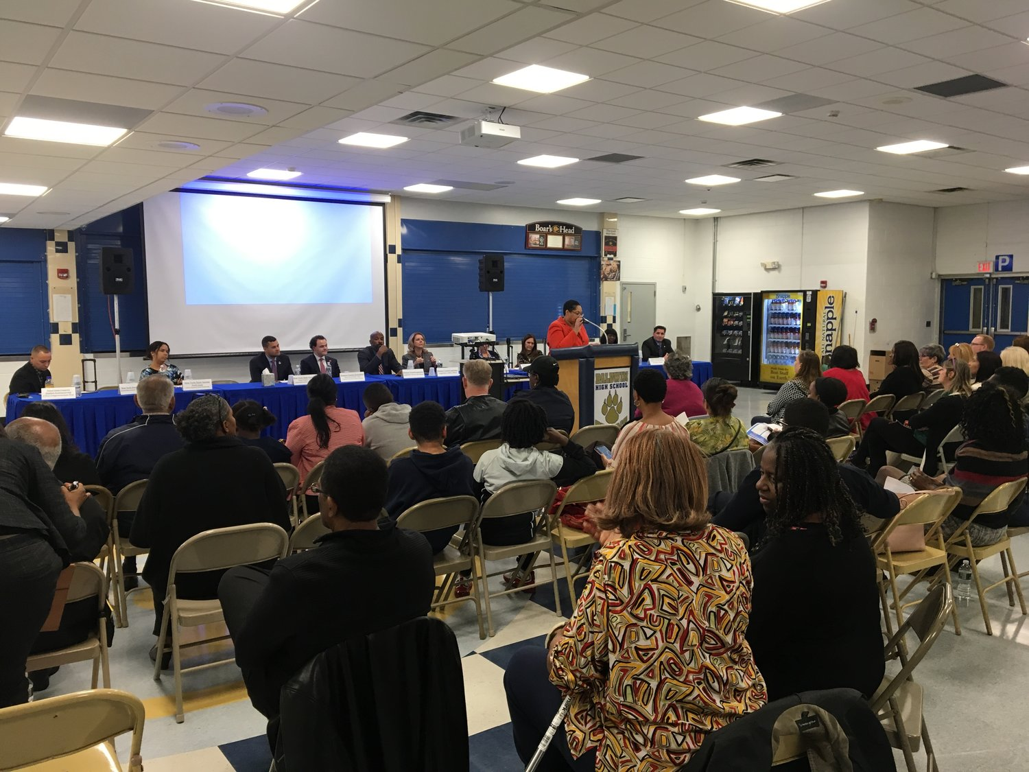 Dozens of people made their way to the Baldwin High School cafeteria on Oct. 10 for the annual Baldwin Council of PTAs Legislative Forum.