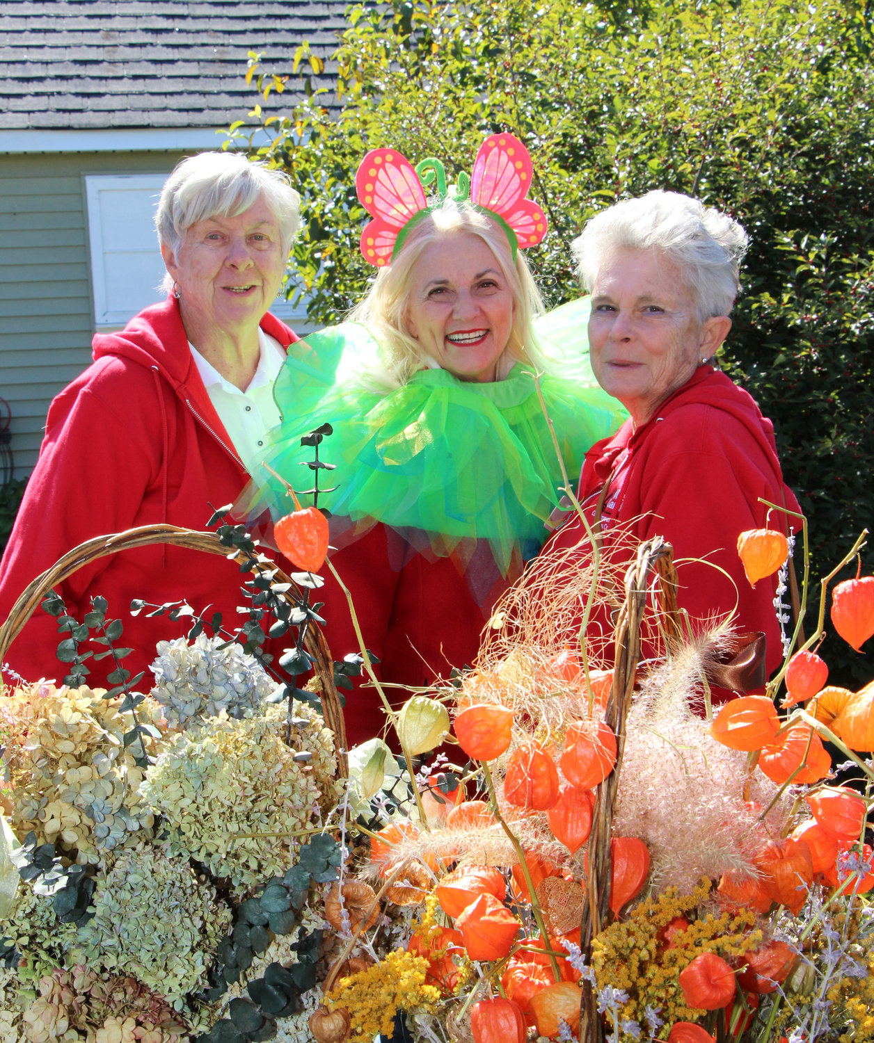 Nonie Muellers, left, Patricia Voll and Roellyn Armstrong are master gardeners at the Cornell Cooperative Extension of Nassau County, which operates the East Meadow Farm.