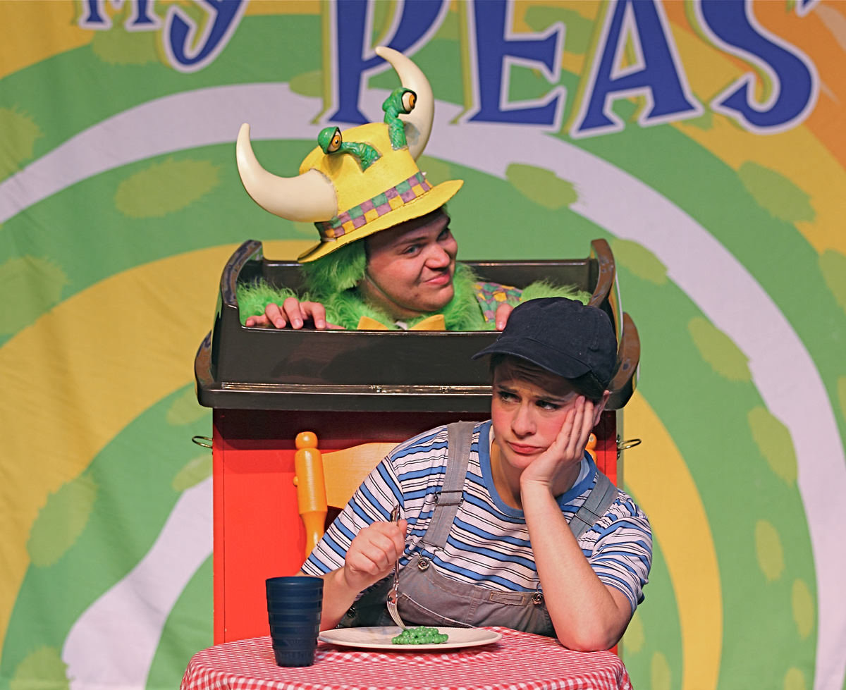 "The beloved tale ""The Monster Who Ate My Peas"" comes to life on the Adelphi University Performing Arts Center stage on Oct. 19."
