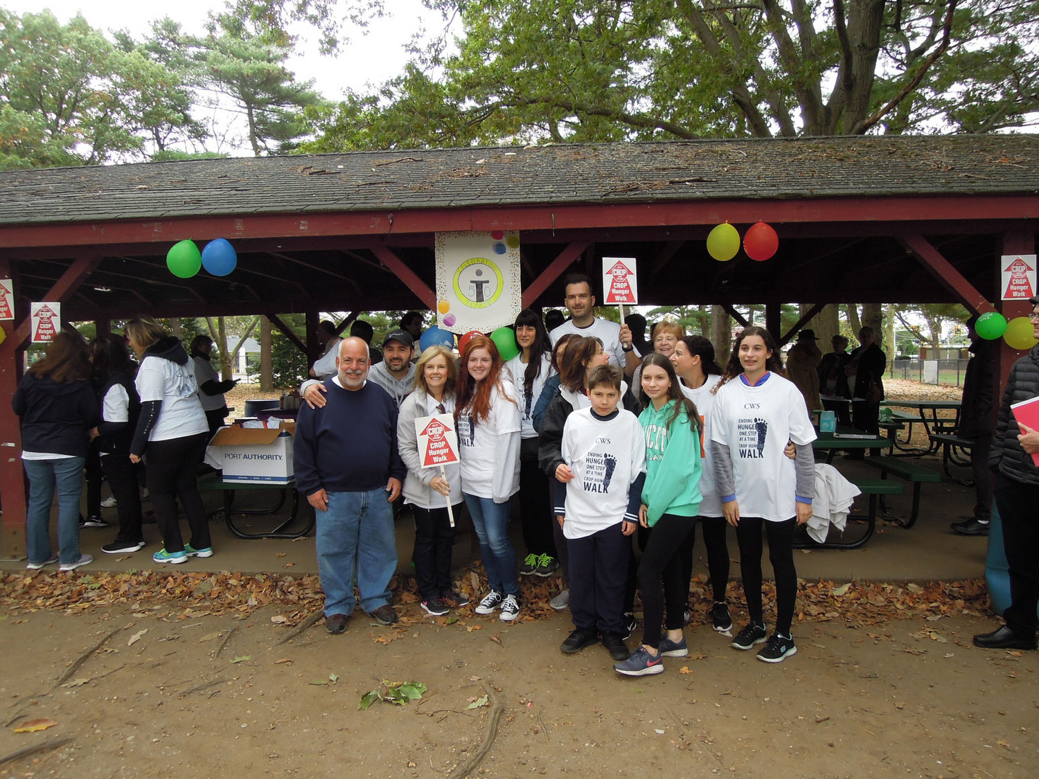 A group of walkers from St. Paul's Greek Orthodox Cathedral, in Hempstead, attended the CROP Hunger Walk at Eisenhower Park on Oct. 12.