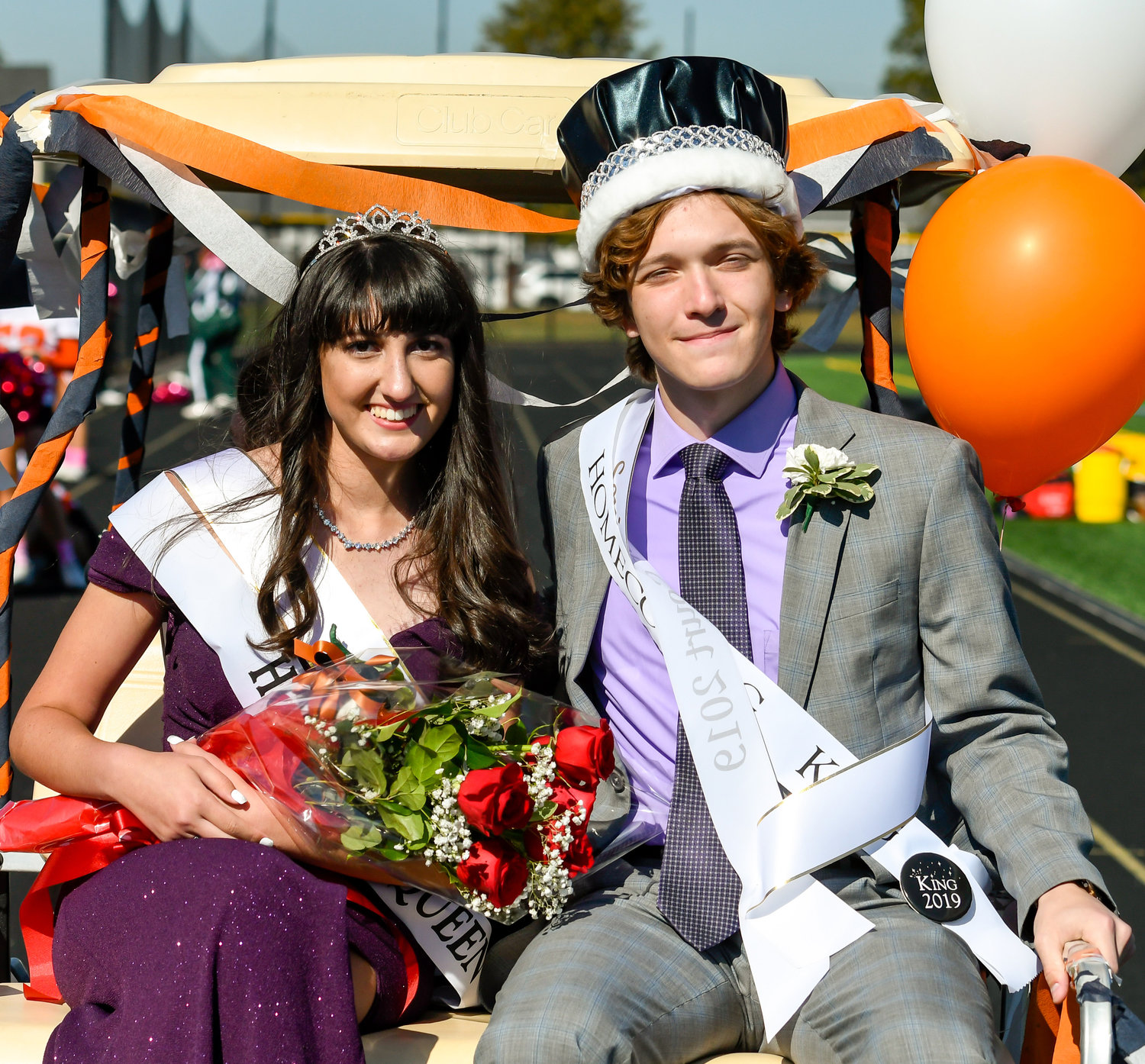 Queen Lauren Gunn and King Gary Faraone were a big part of the Homecoming festivities.
