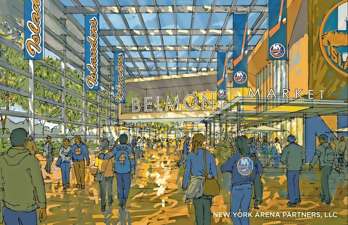 The new arena at Belmont Park is expected to be completed in time for the New York Islanders 2021 – 22 season.