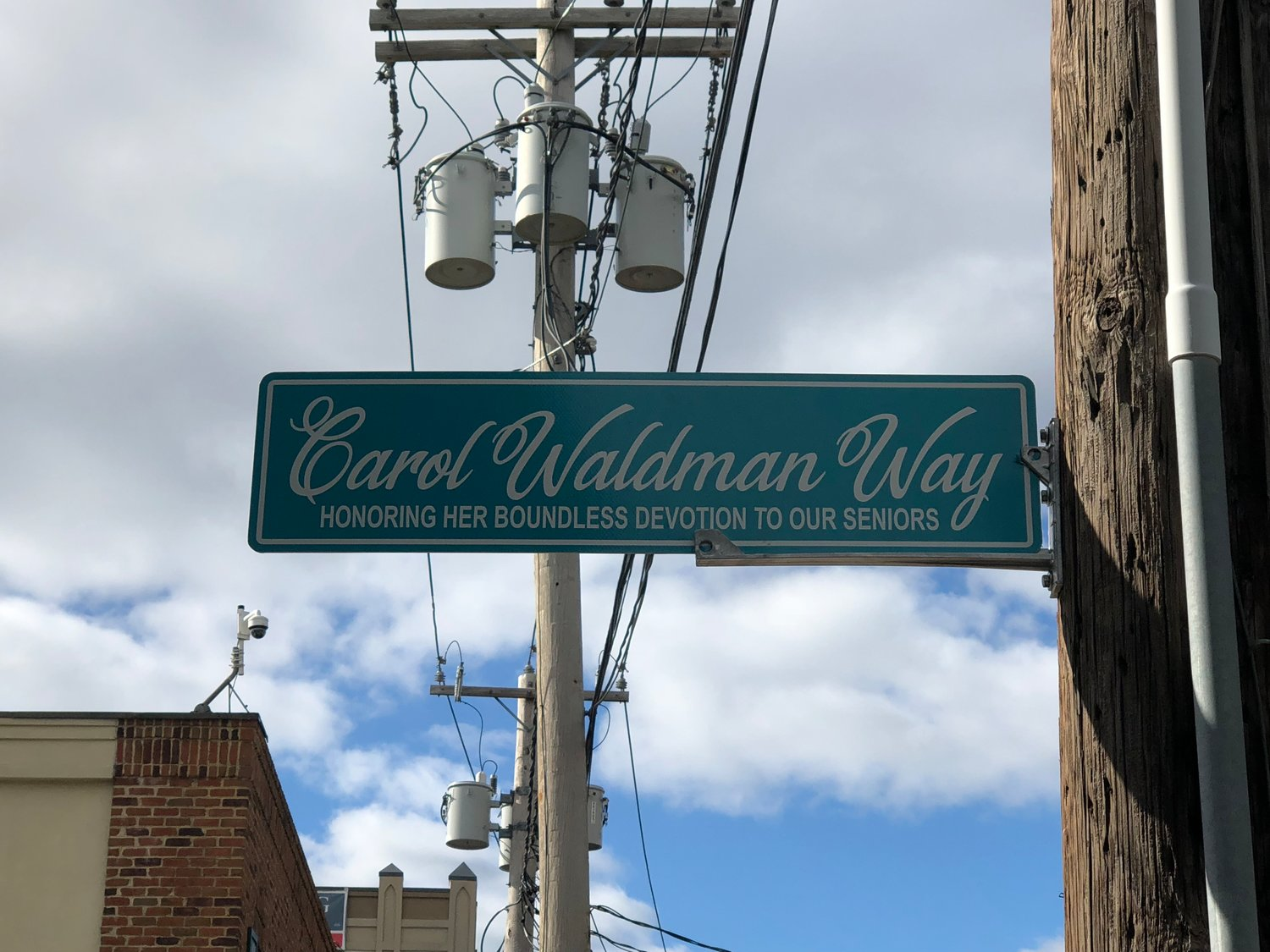 The City of Glen Cove has designated the road leading into the senior center as Carol Waldman Way.