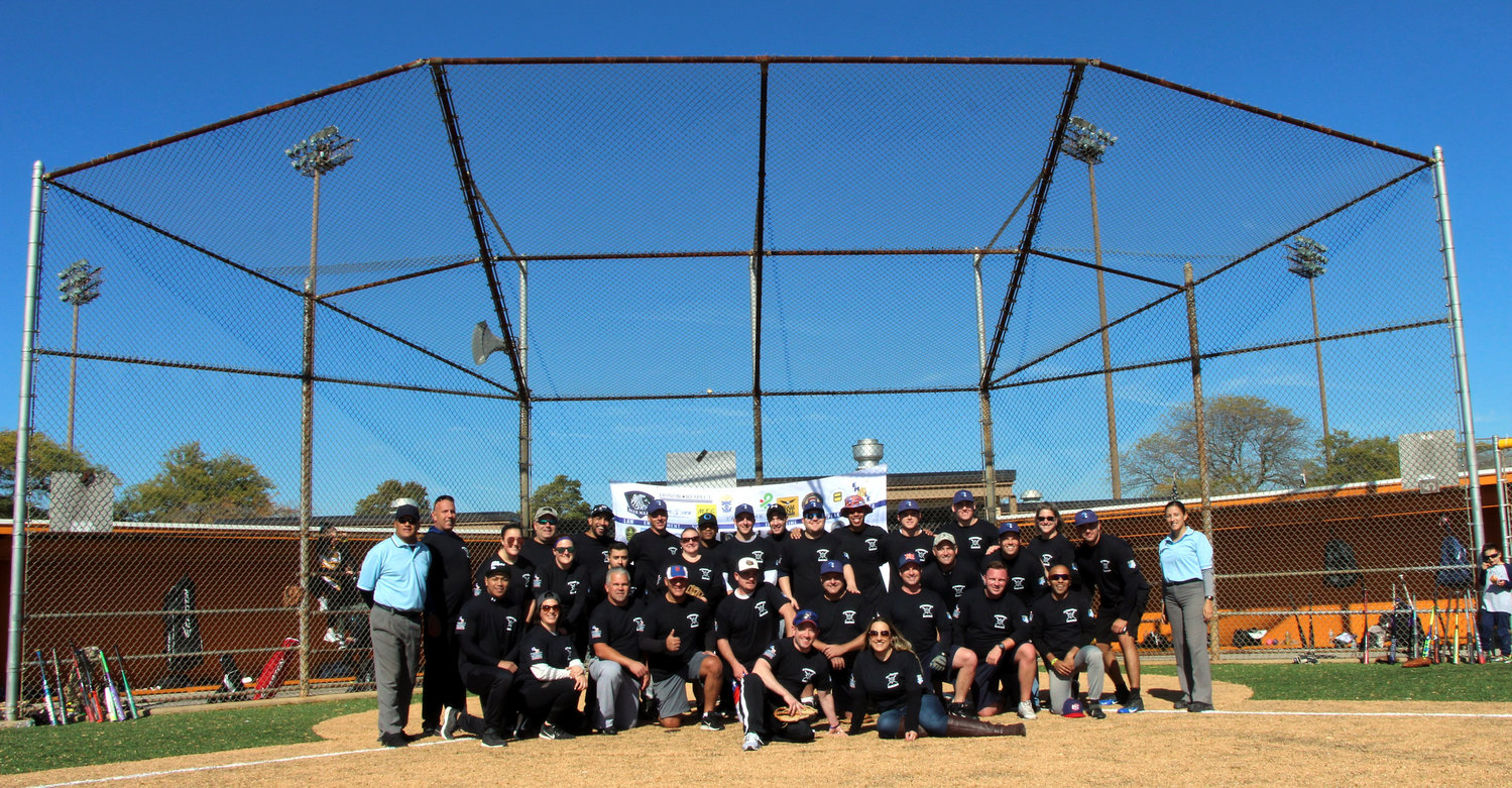 Officers from the NYPD and the Nassau and Suffolk County police departments played a charity softball game last weekend to raise mental health awareness.