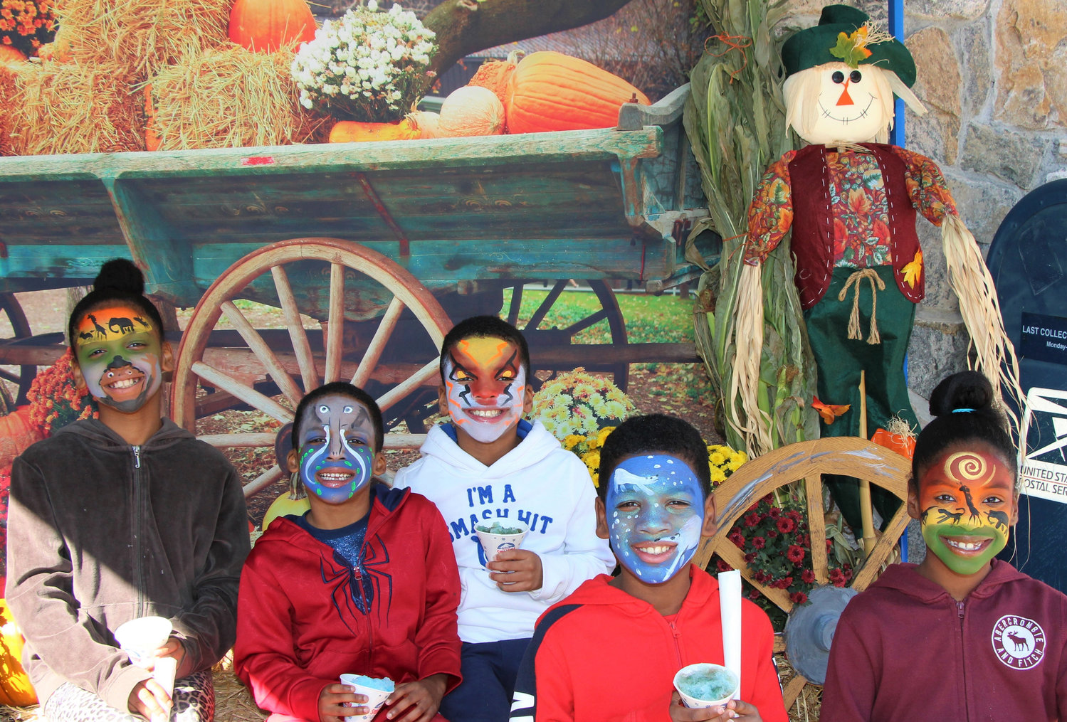 Alexa, Mason, Nicholas, Braxton and Kiera Sinclair had their faces painted at the Grand Baldwin Festival last weekend.
