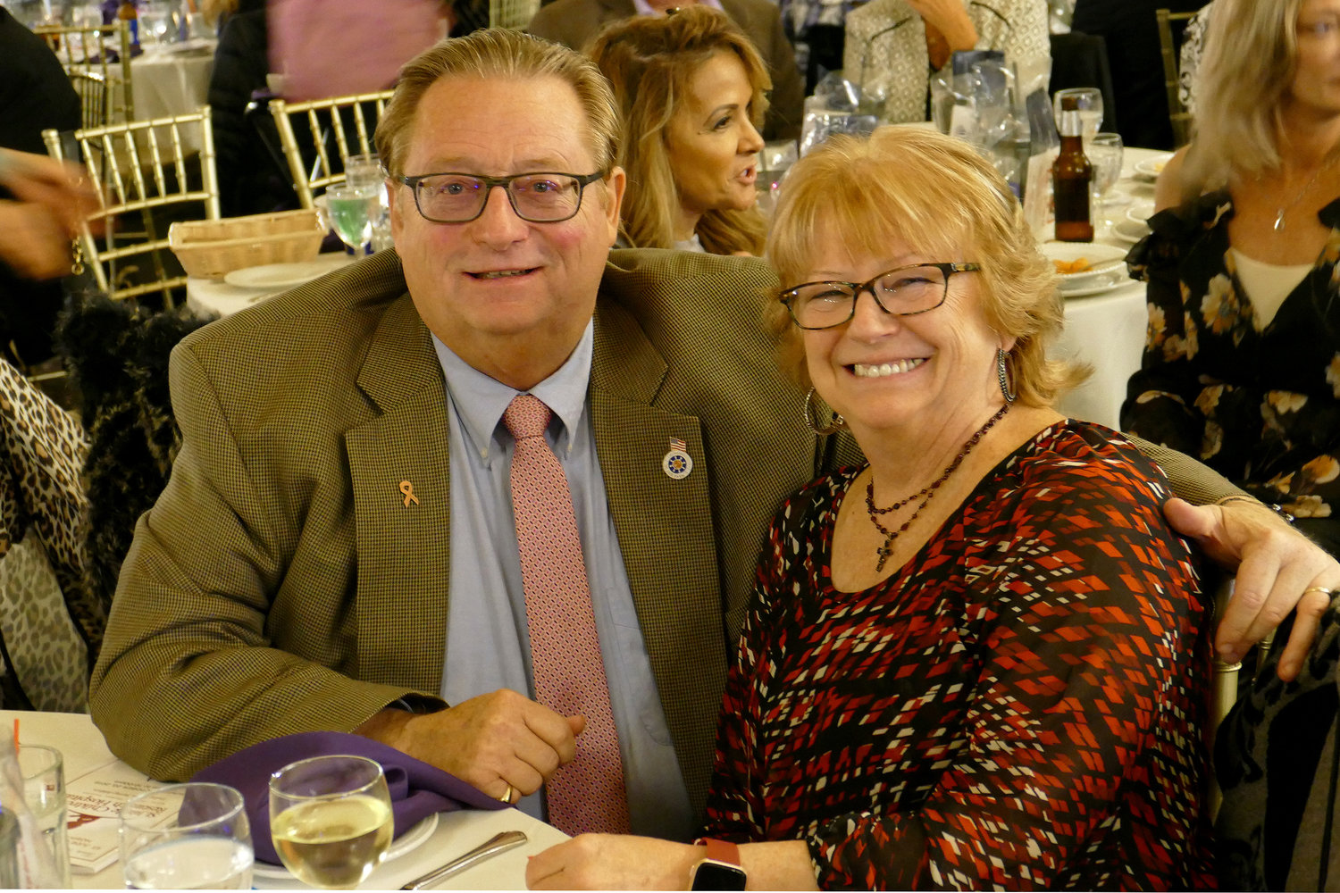 Island Park Mayor Michael McGinty and his wife, Jean, enjoyed dinner at the event.
