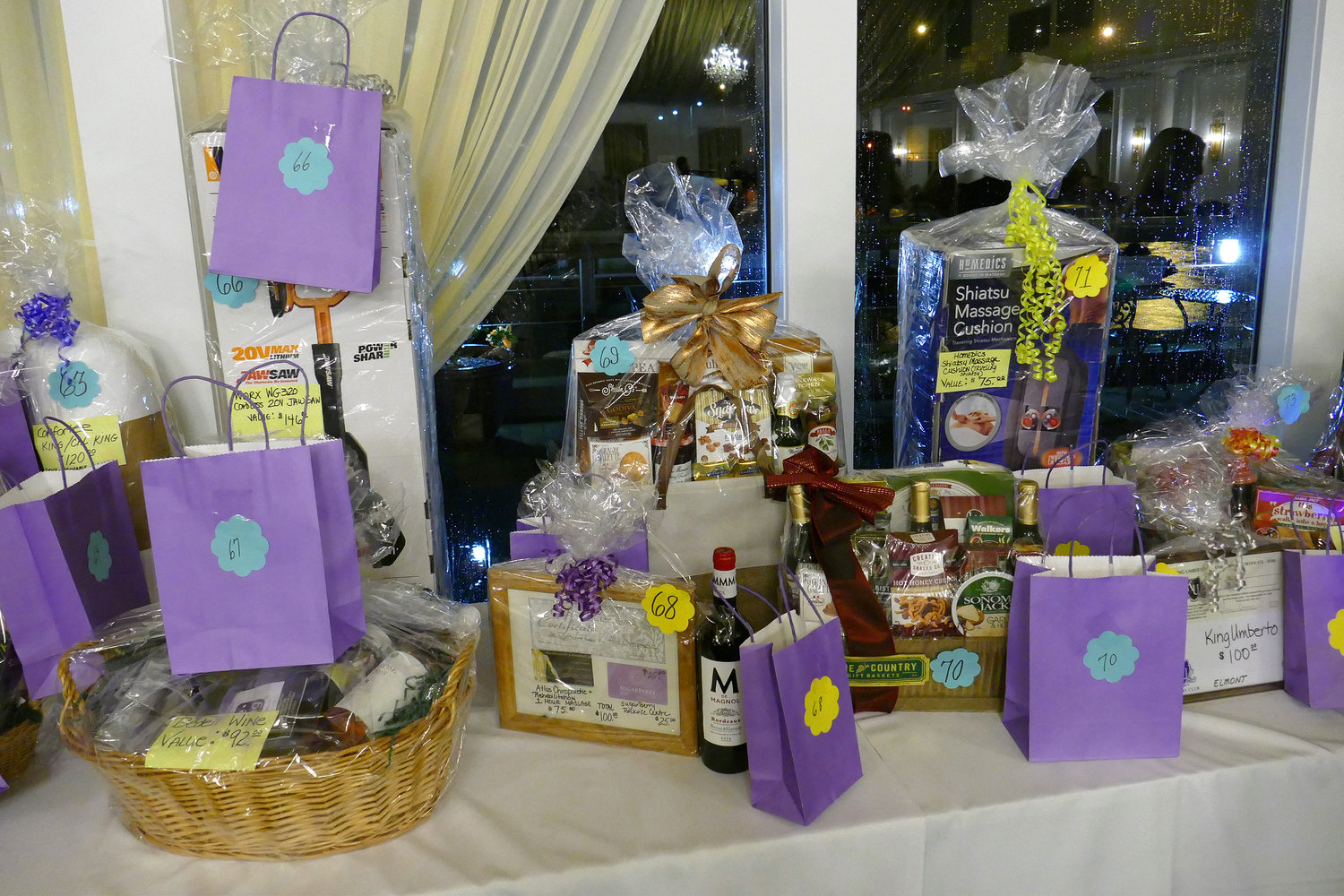 More than 100 businesses donated items and gift baskets to be raffled.
