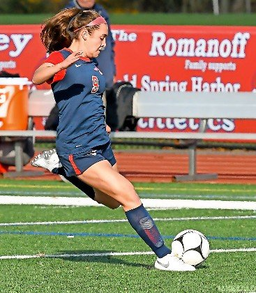 Junior Kate Sweeney was instrumental in the Lady Cyclones' run to the Nassau Class AA semifinals, where they lost a 3-2 heartbreaker to MacArthur last Saturday.