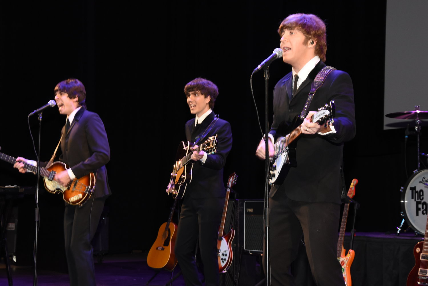 The Fab Four played the music of The Beatles during the gala. Based in California, the group has been paying homage to The Beatles since 1997.