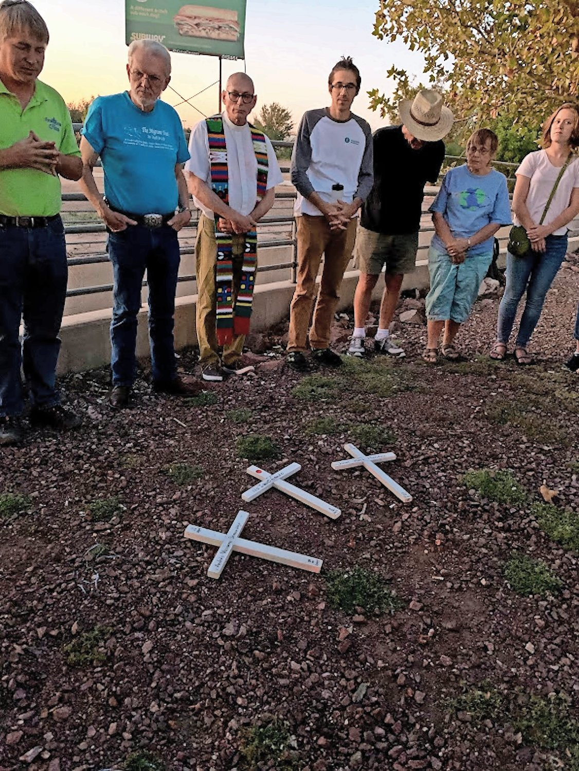 During the trip, the delegation joined a prayer vigil in memory of those who have perished in the desert of Cochise County in Arizona while seeking refuge in the United States.