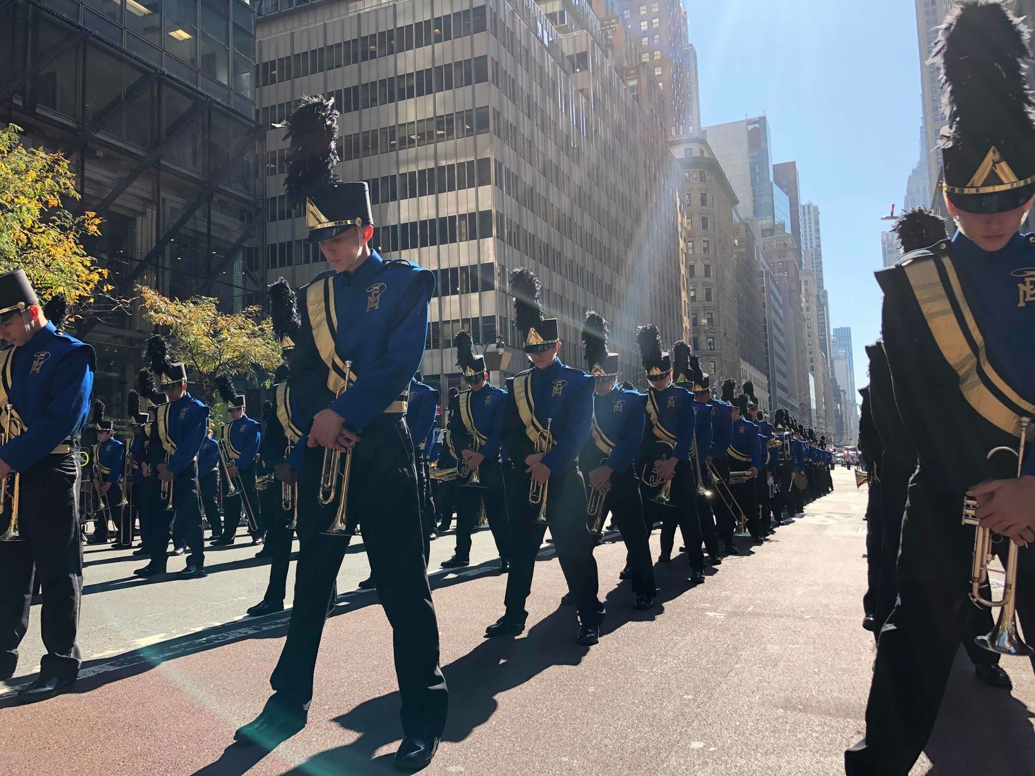 The East Meadow High School marching band finished the 75th New York City Columbus Day Parade in first place — for the 15th time since they began competing in 1992.
