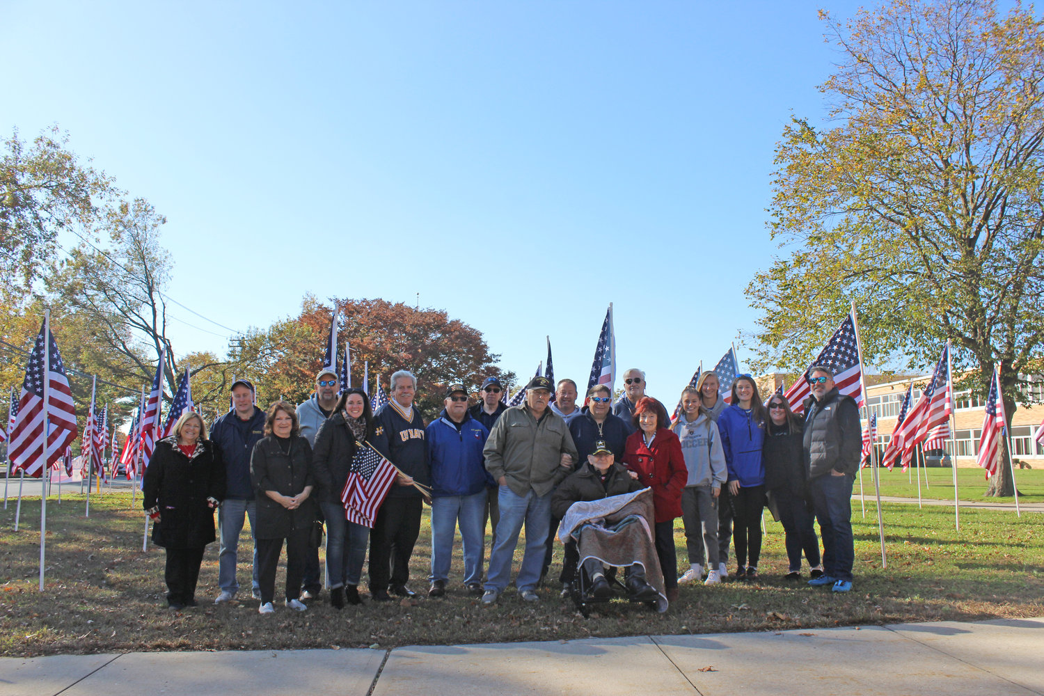 Members of the East Meadow community visited the Field of Honor at East Meadow High School on Nov. 2.