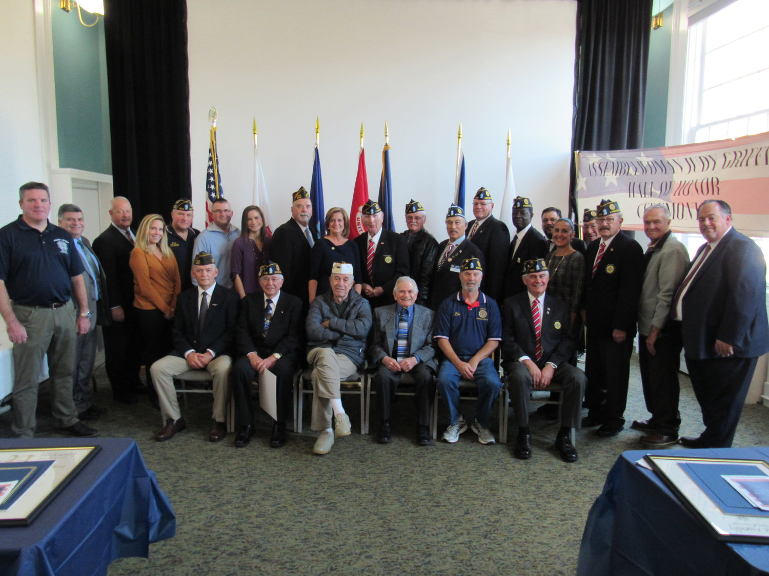 Lynbrook and East Rockaway veterans were among 11 people honored at a Hall of Honor Ceremony at the Lynbrook Public Library on Nov. 2.