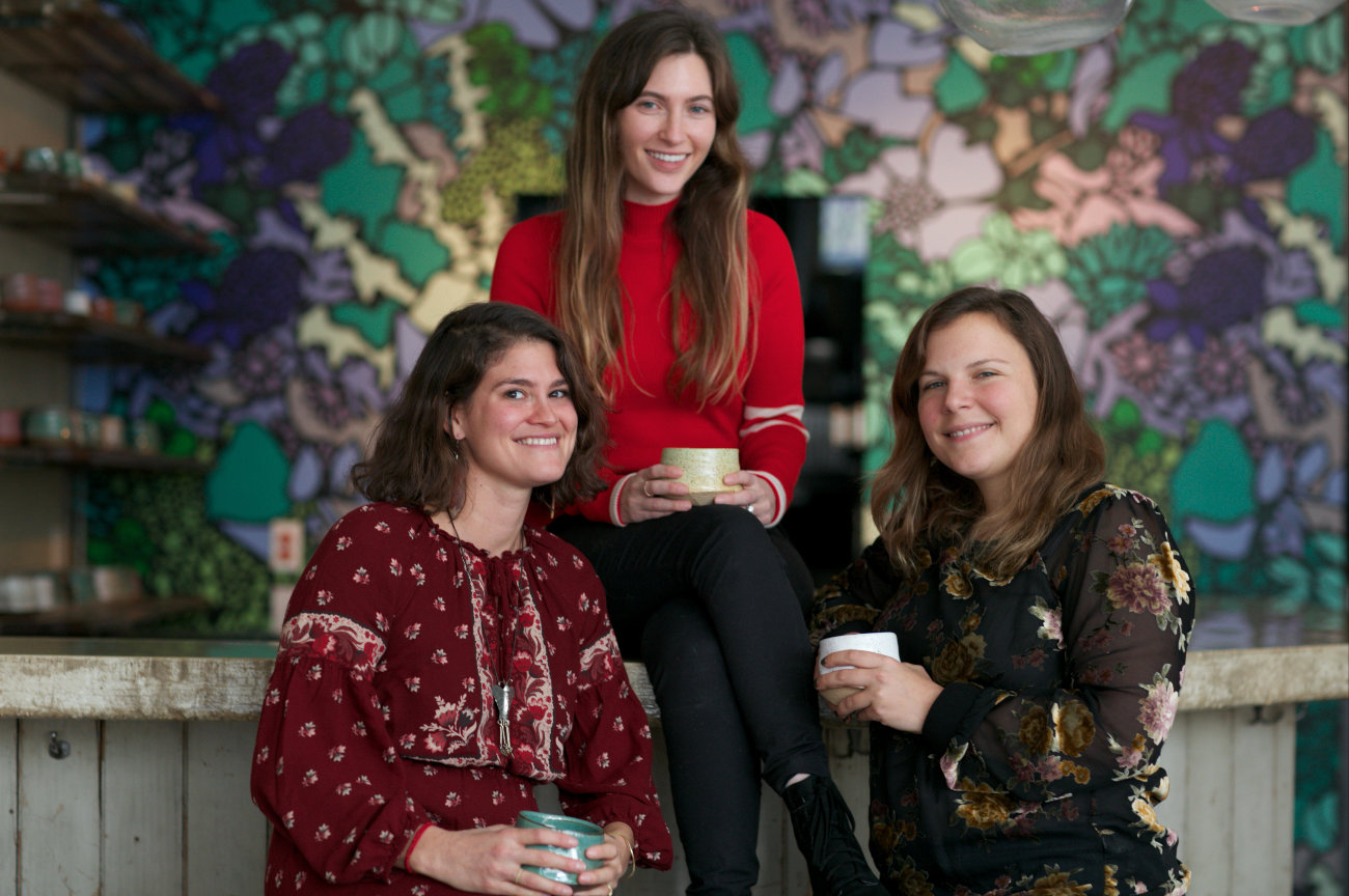 Maddy Mindich, left, Lisa Geismar and Emily Berg are excited to bring a brand new wellness experience to the North Shore.