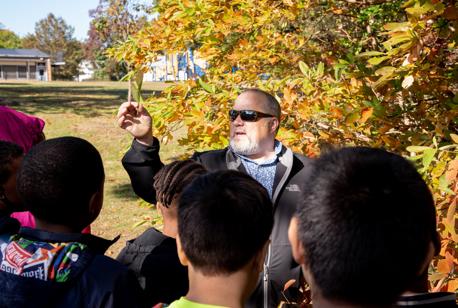 Seatuck Education Director Peter Walsh led a a science and climate education program.