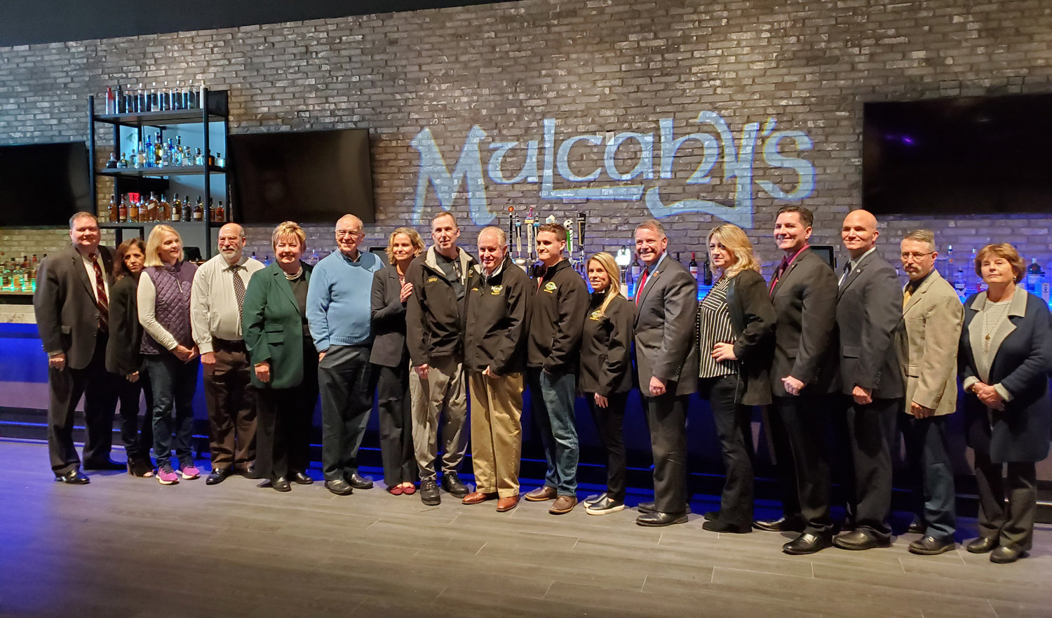 The Wantagh Chamber of Commerce held the official ribbon-cutting for the reopening of Mulcahy's after its extension was unveiled.