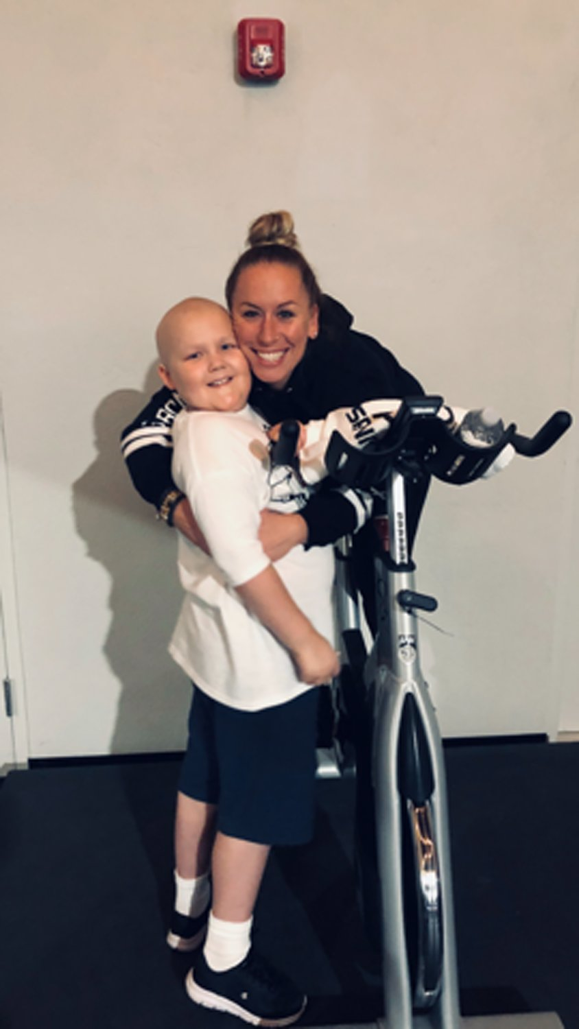 Barbara Larrea dedicated the 2019 Cycle for Strength event to her nephew Brody Kuenzler, 9, who lives with Ewing's sarcoma, a rare form of bone cancer.