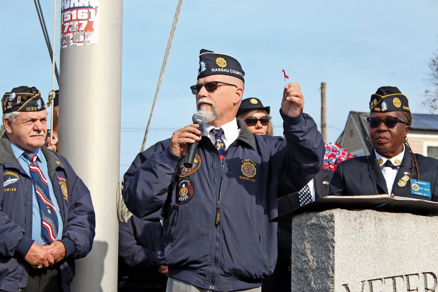 Immediate Past Commander Steve McManus spoke about the history of the day.