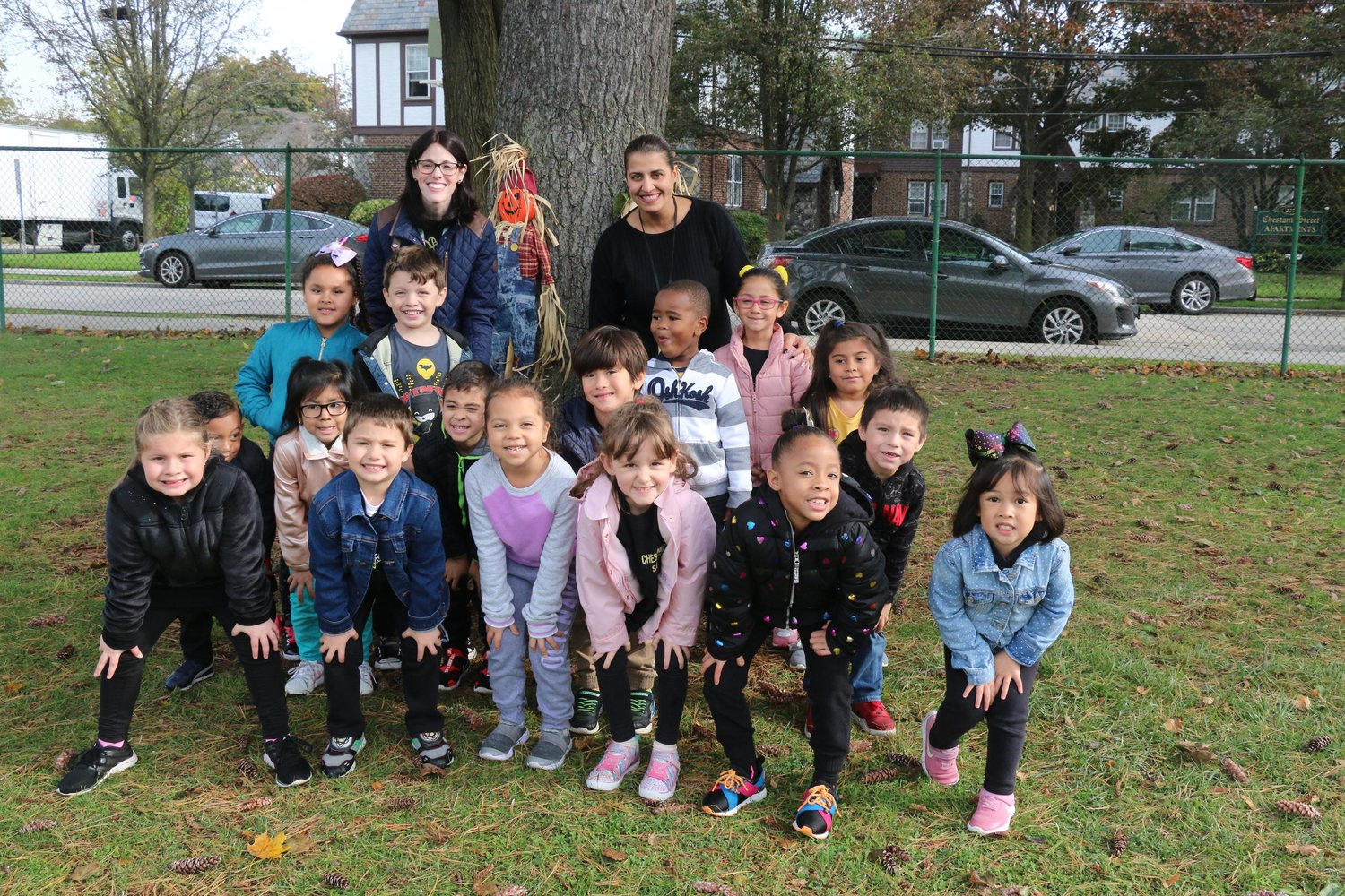 Kindergartners in Jaclyn Klafter's class were excited to take part Chestnut Street School's annual Fall Festival last month.