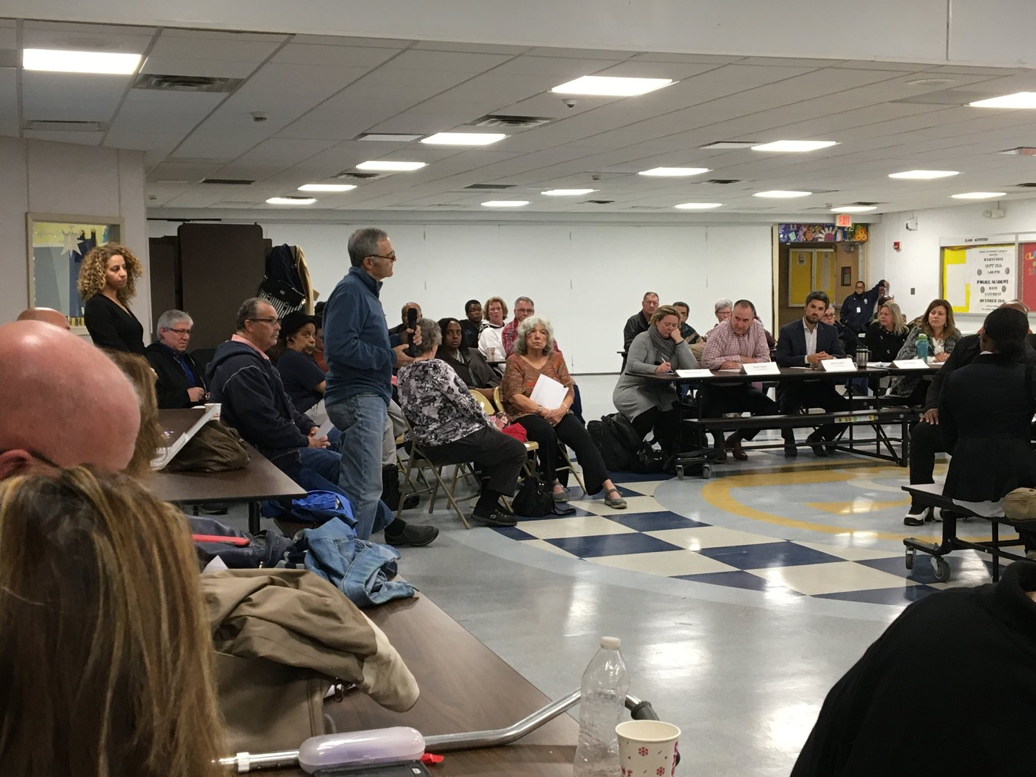 Baldwin Civic Association Vice President Steve Greenfield shared his concerns during the public comment period of the first Baldwin Downtown Revitalization Initiative Local Planning Committee meeting on Nov. 7.