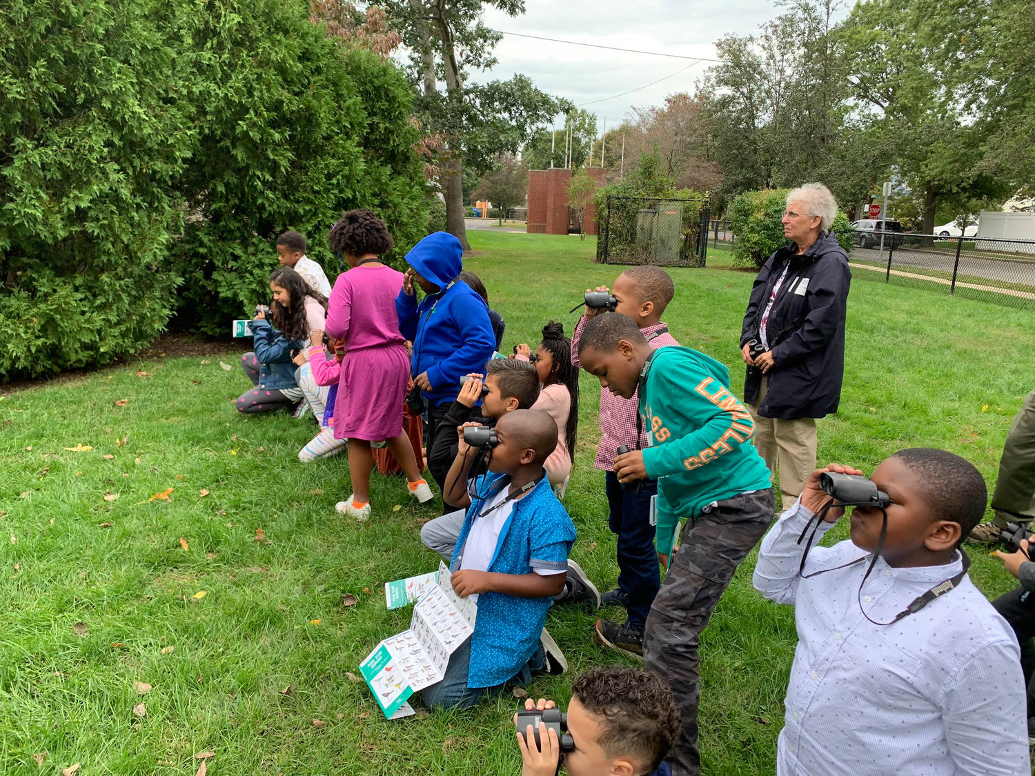 Third-grade students in Mrs. MacDermott's class boosted their science knowledge through a partnership with the Theodore Roosevelt Sanctuary and Audubon Center on Oct. 11.