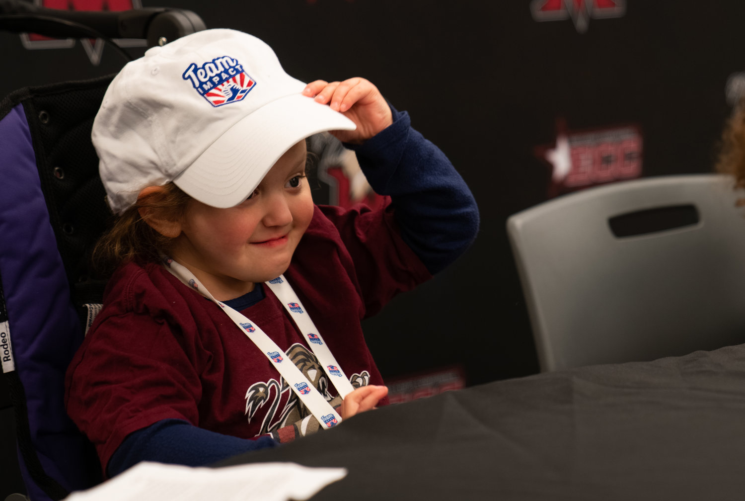 Five-year-old Penelope DiChiara signed on to Molloy's softball team.