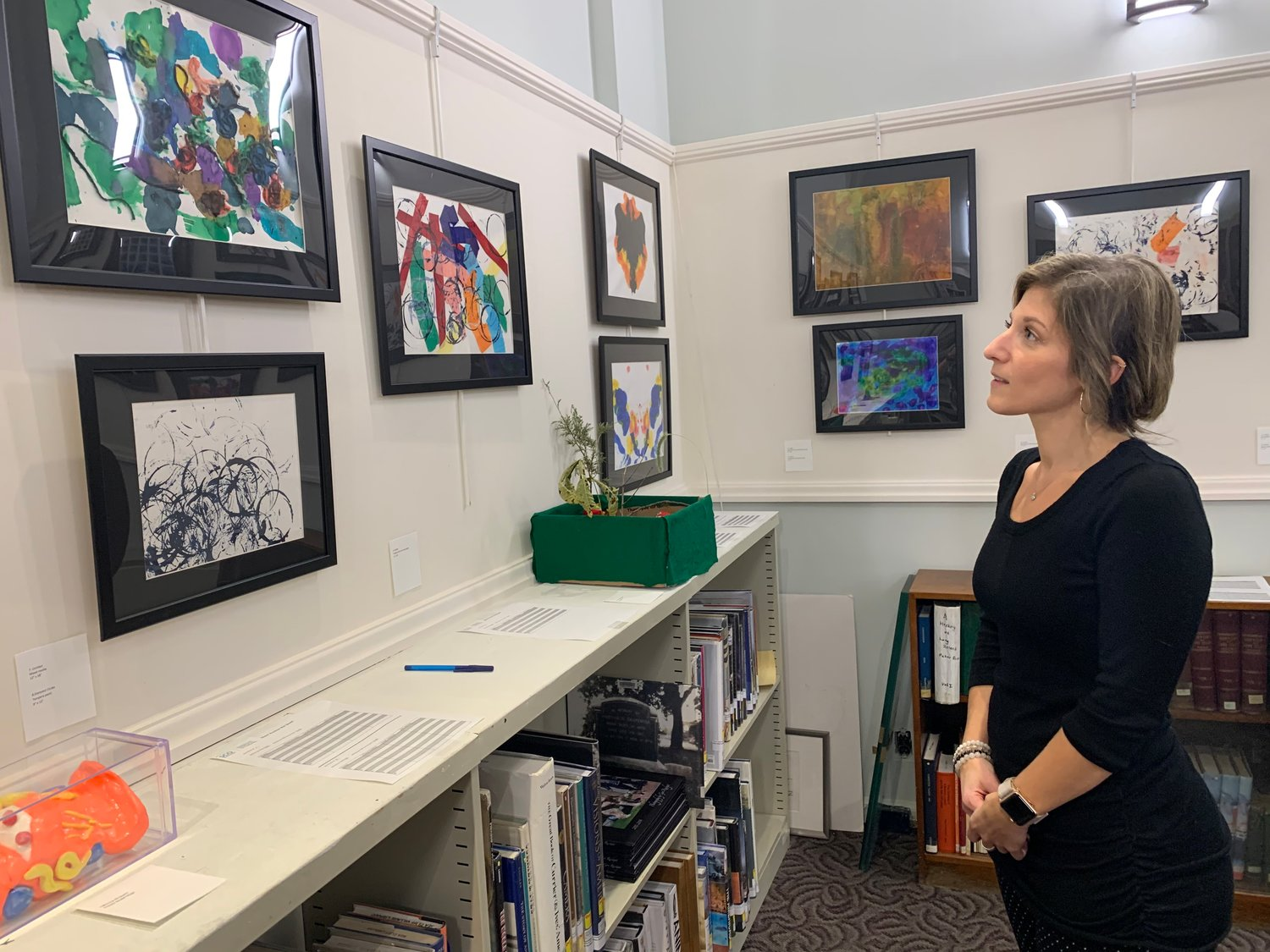 Clinical art therapist Suzanna Shayer is proud to display the artwork made by young people with intellectual disabilities at SCO.