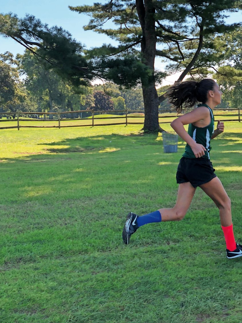 Marissa Spottiswood made her way through the course at Bethpage State Park during the Grade Championships meet on Oct. 23.