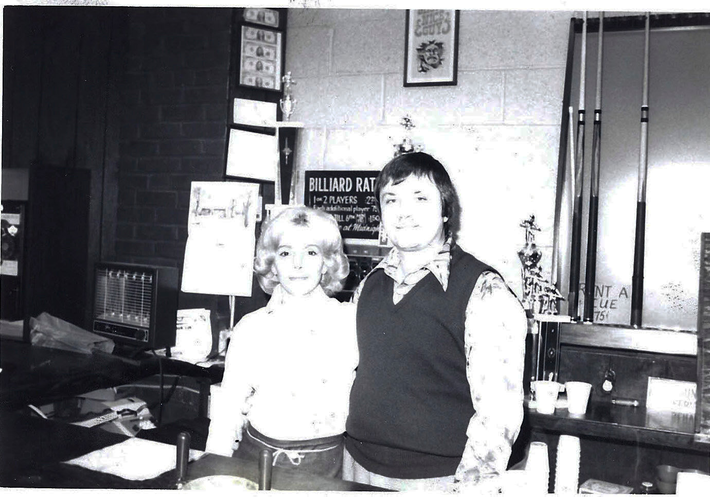 Carol and John shortly after opening Guys and Dolls in 1970.