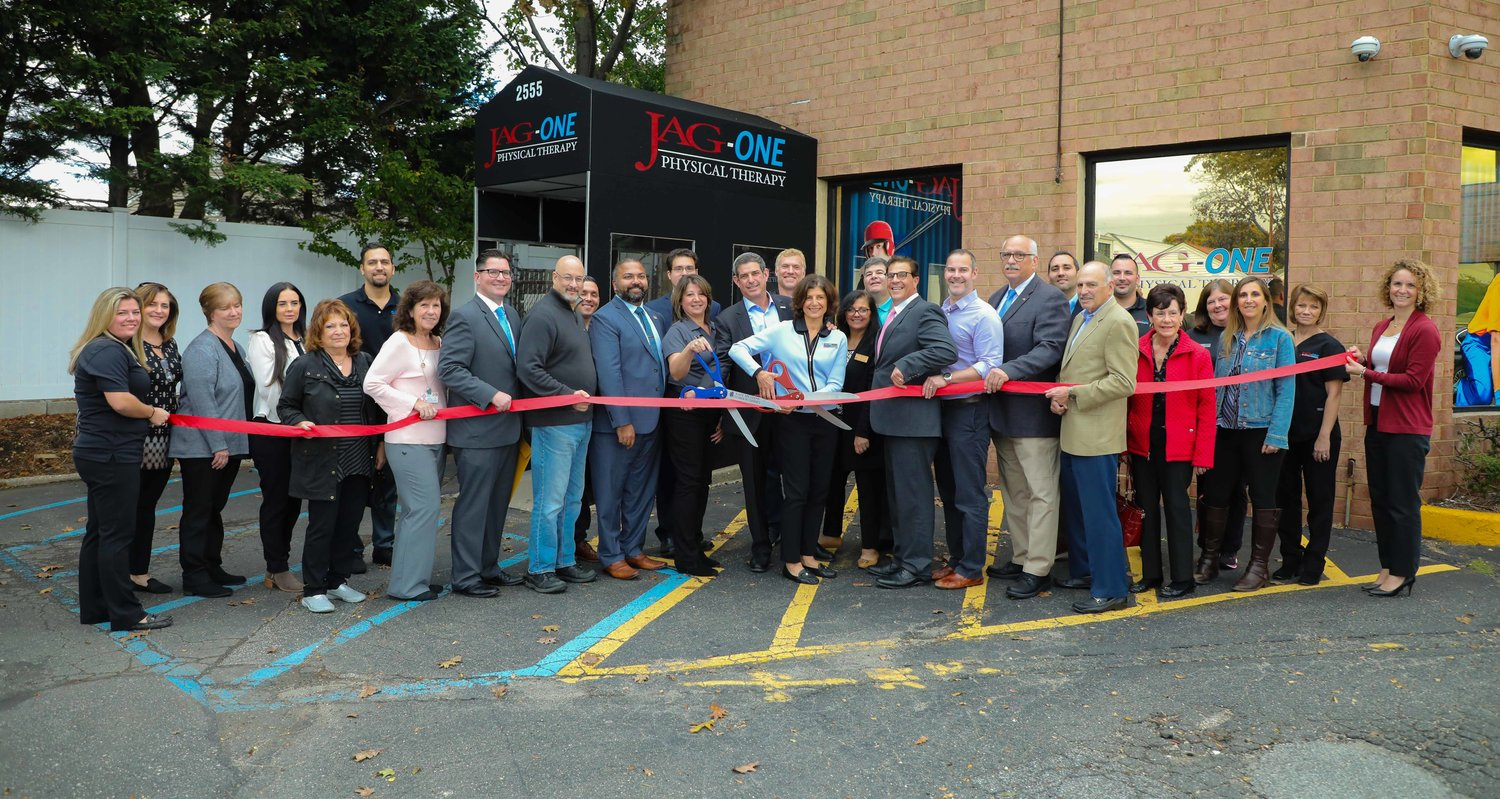 JAG-ONE Physical Therapy recently celebrated its acquisition of Life Physical Therapy and Wellness at 2555 Hempstead Tpke. in East Meadow.