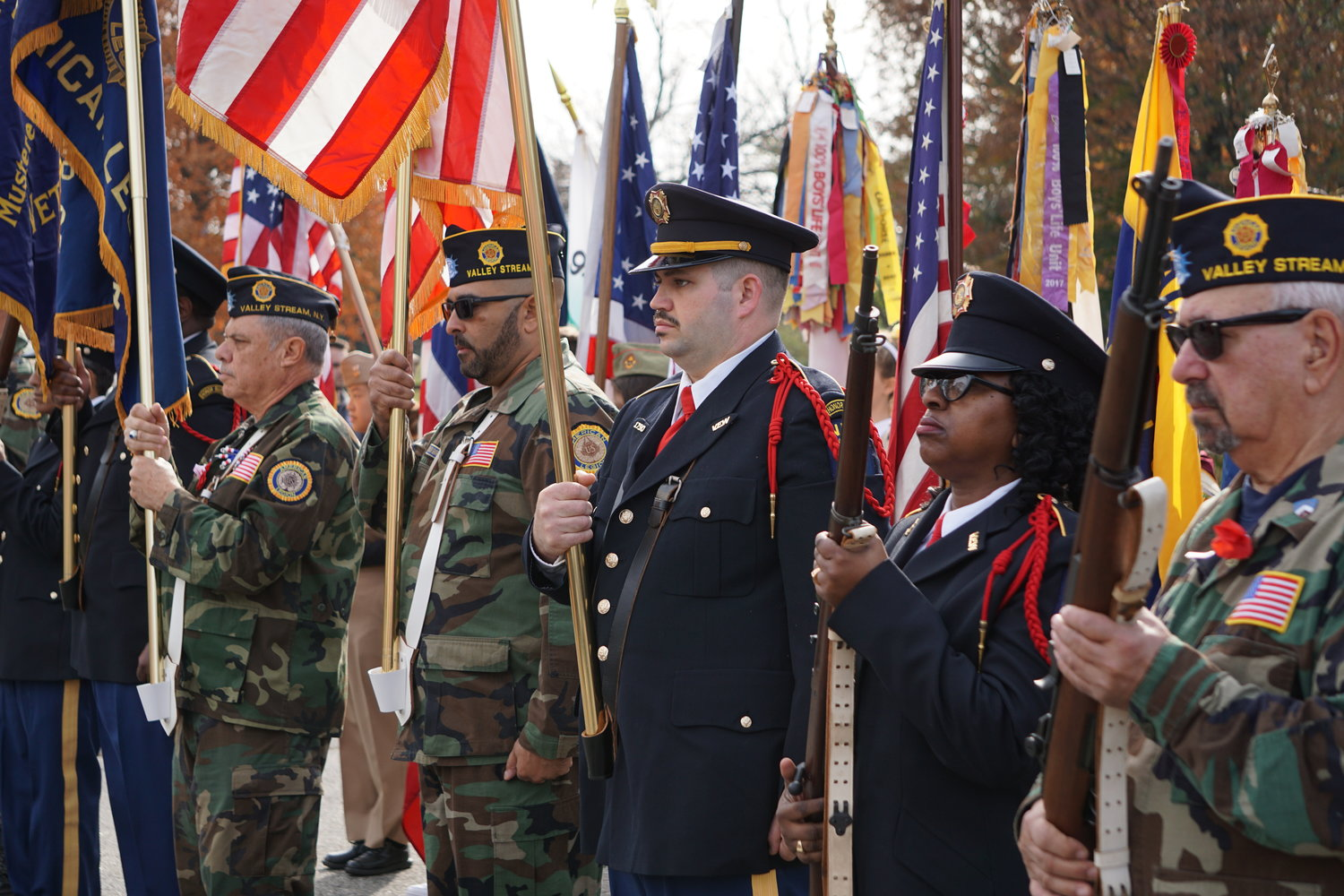Valley Stream held its Veterans Day ceremony on the Village Green.