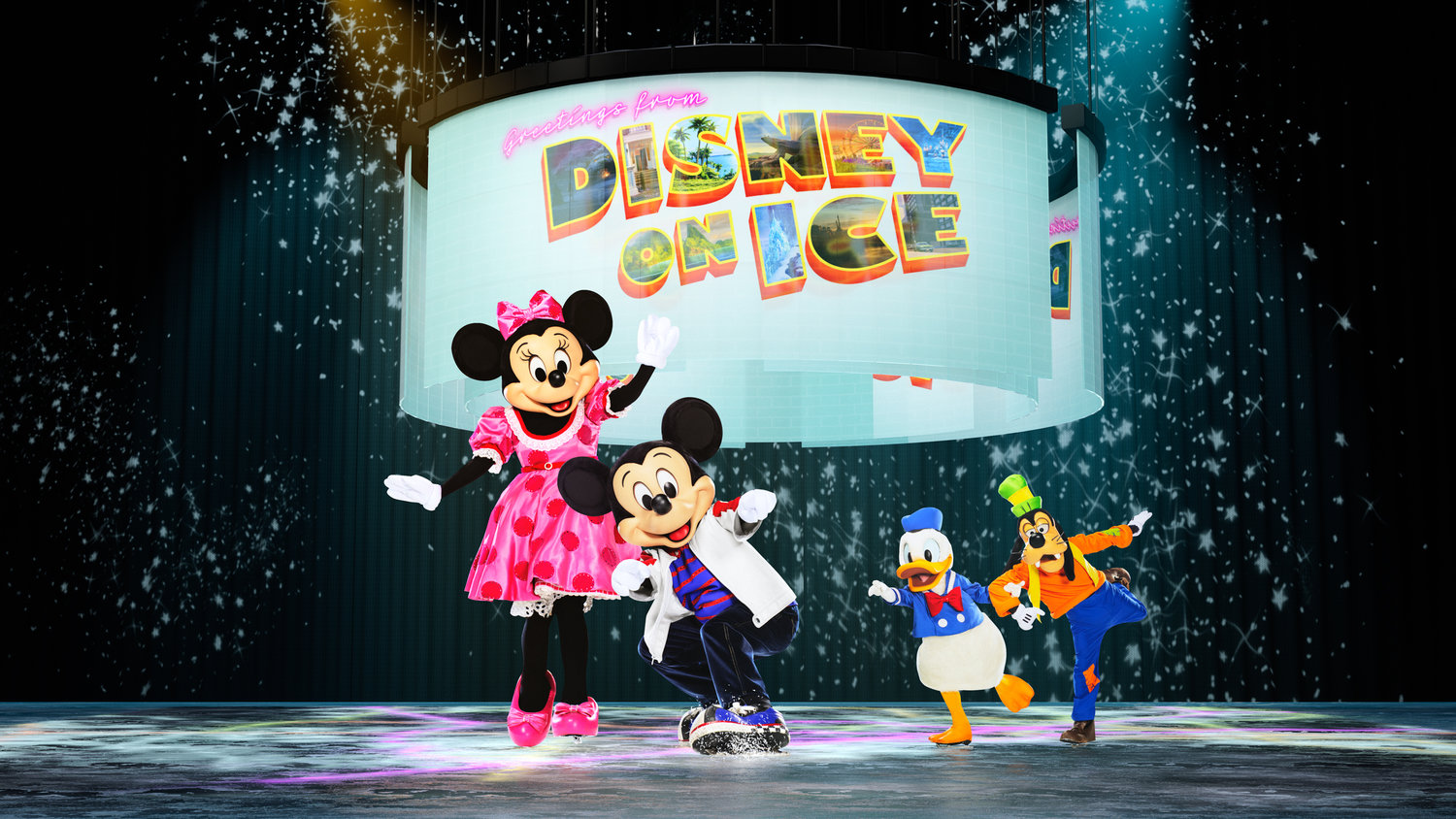 Mickey and his pals greet everyone in the latest Disney on Ice extravaganza.