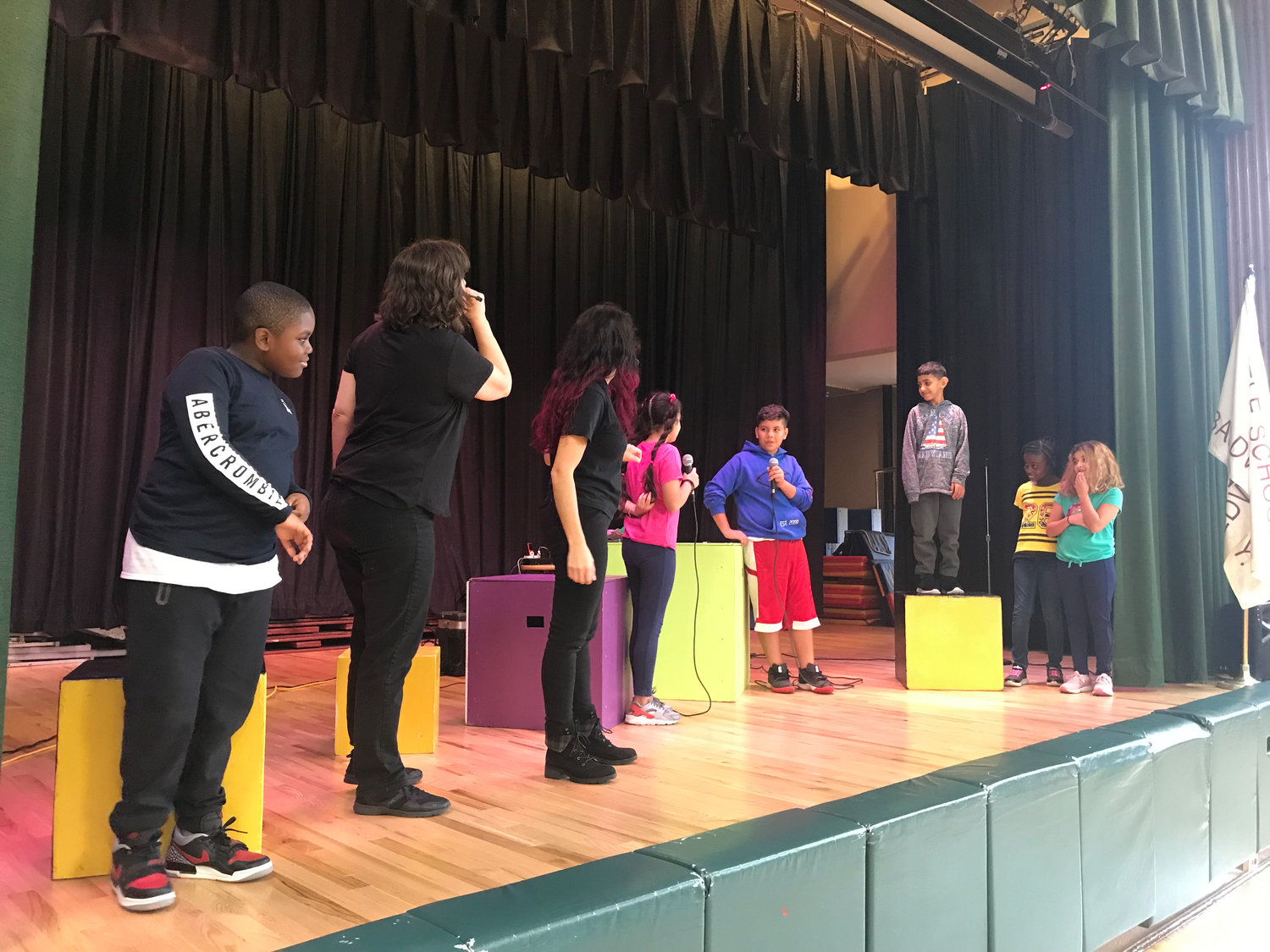 The students learned about steps to prevent bullying.