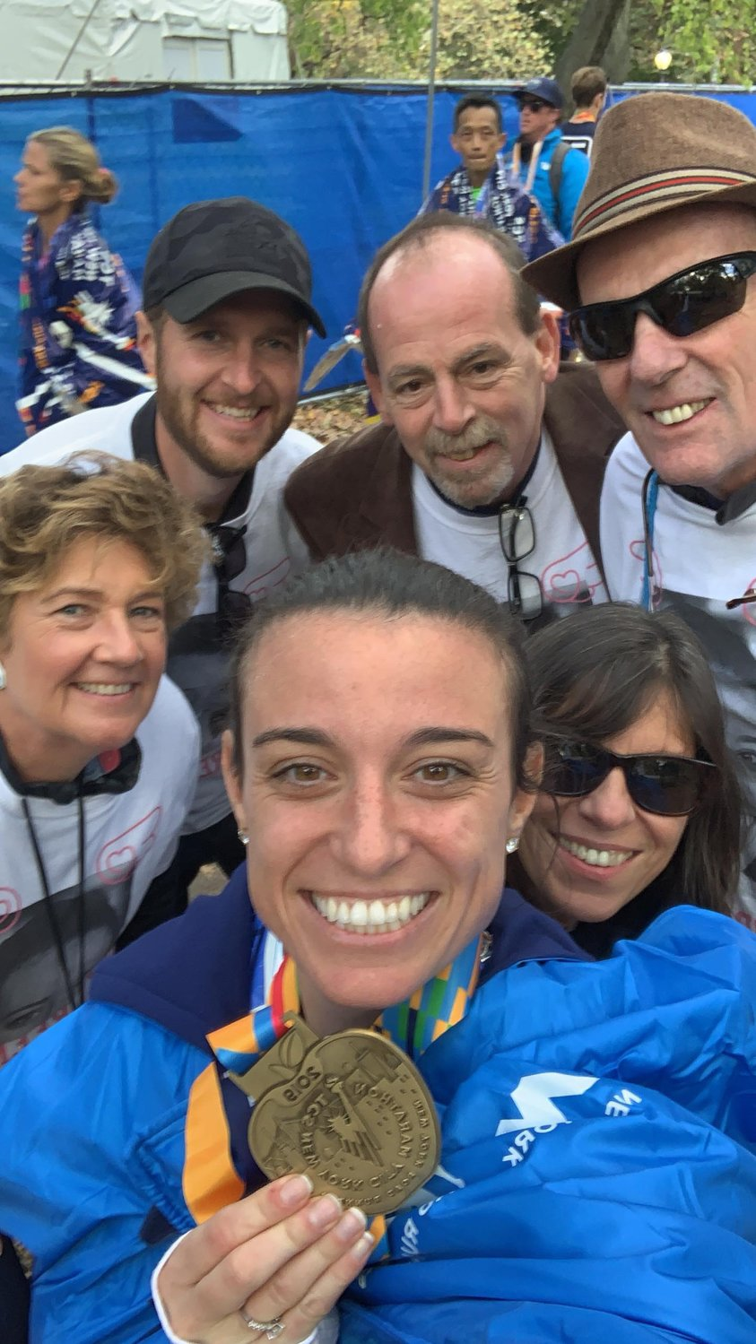 Loreen Lawrence ran the New York City Marathon to support the Katie McBride Foundation