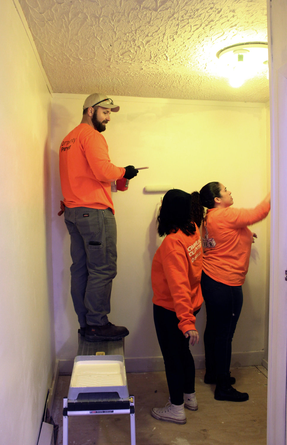 The American Legion started raising funds in May 2018 to complete the building's first renovations since the post acquired it in 1935. Chris Pezzino, Margarita Maltes and Olivia Ramos helped paint the walls.