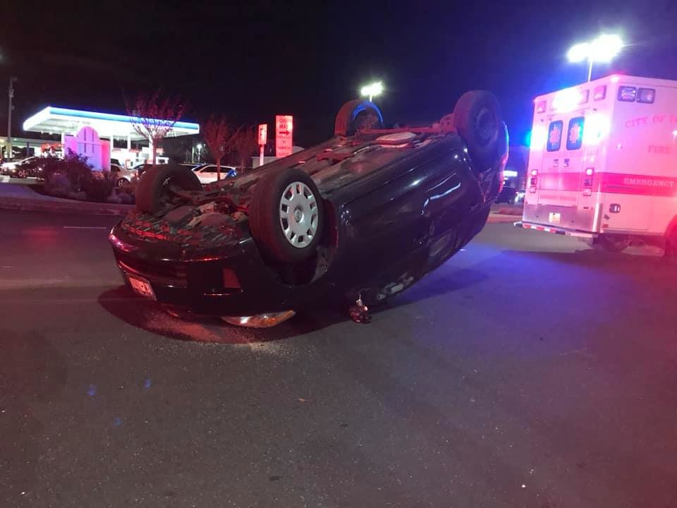 A car was struck and overturned on East Park Avenue on Nov. 20.