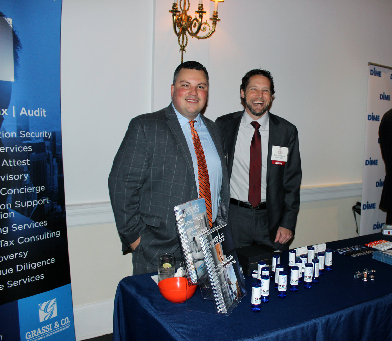 Grassi & Co. was at its second RichnerLIVE event as a sponsor, where Principal Aaron Rupper and partner David Warsheuer greeted honorees.
