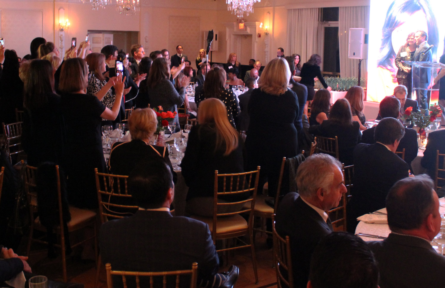 Dozens of members from large real estate firms turned out to support their colleagues who won awards.