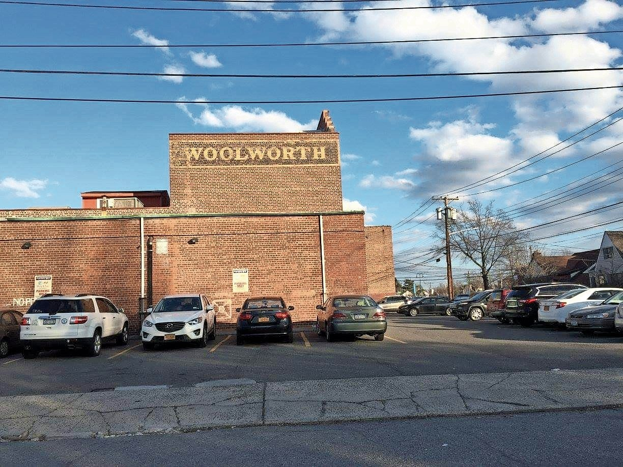 The Woolworth name is still visible on the side of the Synergy Fitness building, which Garden City South President Marge Kelly said should qualify it for landmark status.