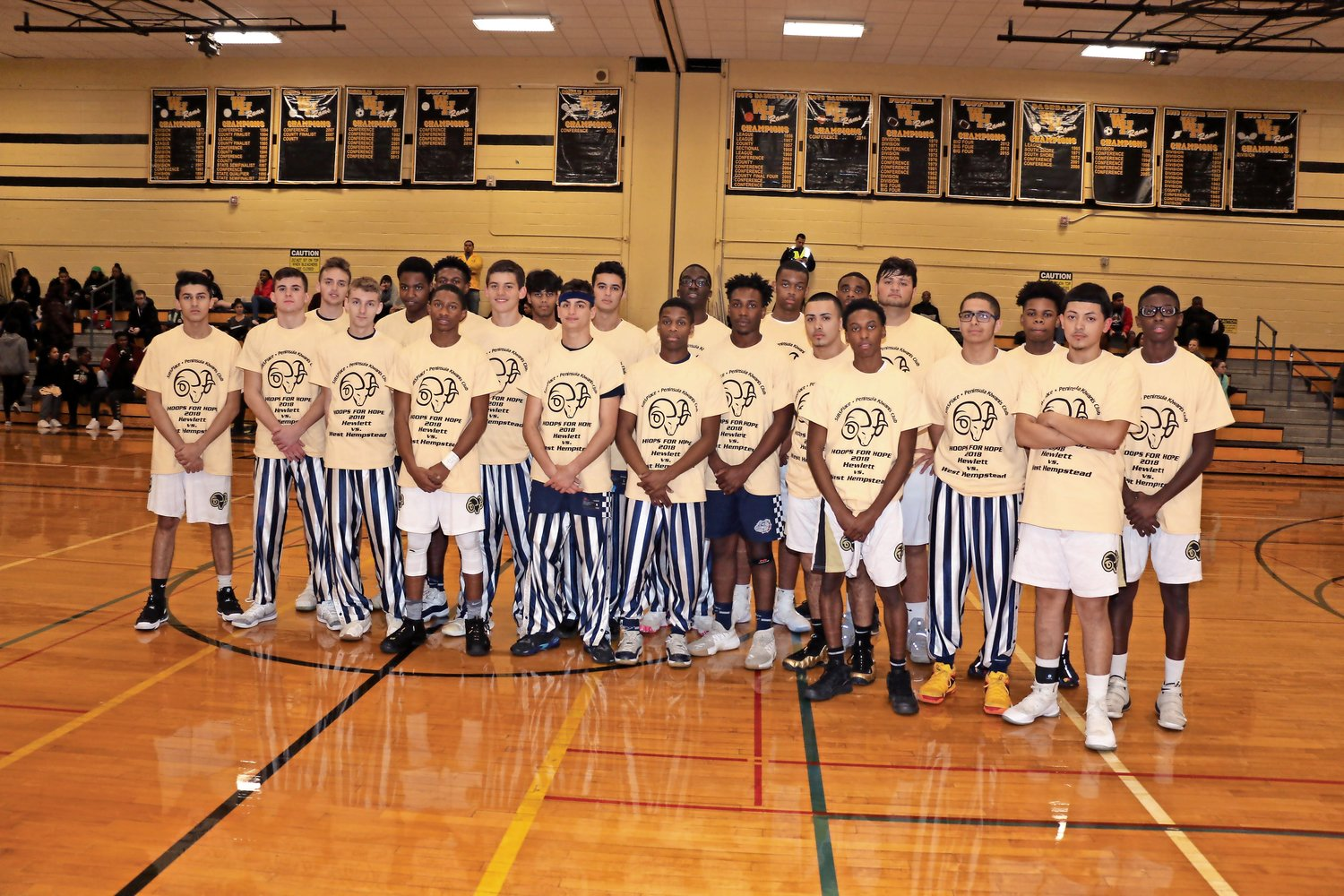 The West Hempstead Rams boys' basketball program raised $800 last year for SIBSPlace.